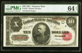 Fr. 370 $10 1891 Treasury Note PMG Choice Uncirculated 64 EPQ