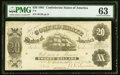 Confederate Notes:1861 Issues, T9 $20 1861 PF-12 Cr. 31 PMG Choice Uncirculated 63.. ...
