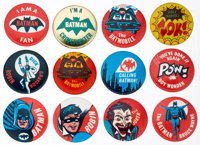 Batman Pinback Group of 12 (DC, 1966).... (Total: 12 Items)