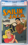 Golden Age (1938-1955):Adventure, Four Color #58 Smilin' Jack - Central Valley Pedigree (Dell, 1944) CGC VF+ 8.5 Off-white to white pages....