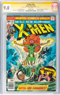 Bronze Age (1970-1979):Superhero, X-Men #101 Signature Series: Stan Lee and Chris Claremont (Marvel,1976) CGC VF/NM 9.0 White pages....