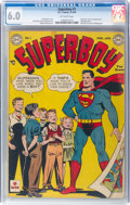 Golden Age (1938-1955):Superhero, Superboy #1 (DC, 1949) CGC FN 6.0 Off-white pages....