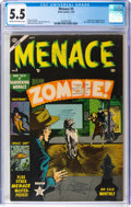 Golden Age (1938-1955):Horror, Menace #5 (Atlas, 1953) CGC FN- 5.5 Cream to off-white pages....