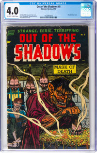 Out of the Shadows #8 (Standard, 1953) CGC VG 4.0 Off-white to white pages