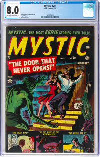 Mystic #20 (Atlas, 1953) CGC VF 8.0 Cream to off-white pages