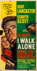 Movie Posters:Film Noir, I Walk Alone (Paramount, 1948). Folded, Fine-. Thr...