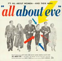 "All About Eve (20th Century Fox, 1950). Folded, Very Fine-. Six Sheet (80"" X 79.25"")"