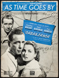 "Movie Posters:Academy Award Winners, Casablanca: ""As Time Goes By"" (Warner Brothers, 1942). Fine/Very Fine. Sheet Music (8 Pages, 9"" X 12""). Academy Award Winner..."