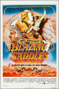 "Blazing Saddles (Warner Brothers, 1974). Folded, Very Fine. One Sheet (27"" X 41""). John Alvin Artwork. Comedy..."