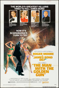 "The Man with the Golden Gun (United Artists, 1974). Folded, Fine/Very Fine. One Sheet (27"" X 41"") Style B. Tom..."