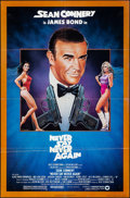"Movie Posters:James Bond, Never Say Never Again (Warner Brothers, 1983). Folded, Very Fine-. One Sheet (27"" X 41""). Rudy Obrero Artwork. James Bond.. ..."