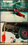 """Movie Posters:Action, Superman the Movie (Warner Brothers, 1978). Very Fine+. Mini Lobby Cards (2) (8"""" X 10""""). Action.. ... (Total: 2 Items)"""