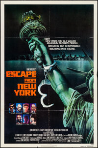 "Escape from New York (Avco Embassy, 1981). Folded, Fine/Very Fine. One Sheet (27"" X 41""). Advance, Stan Watts..."