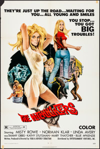 """The Hitchhikers (EVI, 1972). Folded, Fine/Very Fine. One Sheet (27"""" X 41""""). Joseph Smith Artwork. Bad Girl. Fr..."""