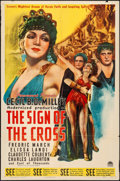 """Movie Posters:Drama, The Sign of the Cross (Paramount, R-1944). Folded, Fine/Very Fine.One Sheet (27"""" X 41""""). Drama.. ..."""