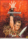"""Movie Posters:Action, Spartacus (Universal International, R-1970s). Folded, Very Fine+. French Moyenne (21.5"""" X 29.75"""") Yves Thos Artwork. Action...."""