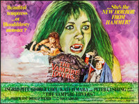 "The Vampire Lovers (American International, 1970). Folded, Very Fine+. British Quad (30"" X 40""). Horror"