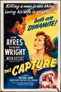 "Movie Posters:Drama, The Capture (RKO, 1950). Folded, Fine/Very Fine. One Sheet (27"" X 41""). Drama. From the Collection of Frank Buxton, of whi..."