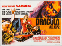 "Dracula A.D. 1972 (Warner Brothers, 1972). Folded, Very Fine+. British Quad (30"" X 40""). Horror"