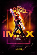 "Movie Posters:Action, Captain Marvel (Walt Disney Studios, 2019). Rolled, Very Fine+.IMAX One Sheet (27"" X 40"") DS, Advance. Action.. ..."