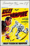 """Movie Posters:Horror, Mother Riley Meets the Vampire (Sphinx-Film, 1952). Folded, Very Fine-. Belgian (14.25"""" X 21.5""""). Horror.. ..."""