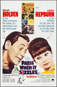 "Paris When It Sizzles (Paramount, 1964). Folded, Very Fine+. One Sheet (27"" X 41""). Romance"