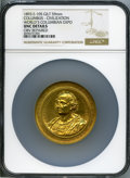 Expositions and Fairs, 1893 World's Columbian Exposition, Columbus - Civilization, -- Obverse Repaired -- NGC Details. Unc. Eglit-105. Gilt, 59...