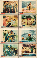 """Movie Posters:War, The Deep Six (Warner Brothers, 1958). Fine/Very Fine. Lobby Card Set of 8 (11"""" X 14""""). War.. ... (Total: 8 Items)"""