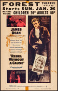 "Movie Posters:Drama, Rebel Without a Cause (Warner Brothers, 1955). Fine+. Window Card (14"" X 22""). Drama.. ..."