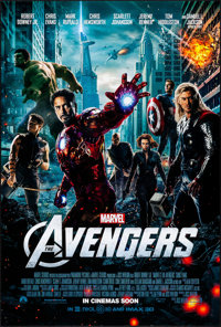 "The Avengers (Paramount, 2012). Rolled, Very Fine+. One Sheet (27"" X 40"") DS, Advance. Science Fiction"