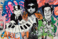 Fine Art - Painting, American:Contemporary   (1950 to present), Alec Monopoly (American, b. 1986). Piano, 2010. Acrylic oncanvas. 40-1/4 x 60-1/4 inches (102.2 x 153 cm). Signed lower...