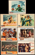 """Movie Posters:War, China & Other Lot (Paramount, 1943). Fine/Very Fine. Lobby Cards (7) (11"""" X 14""""). War.. ... (Total: 7 Items)"""