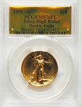 2009 $20 One-Ounce Gold Ultra High Relief Twenty Dollar MS70 Prooflike PCGS. PCGS Population: (1056). NGC Census: (1810)...