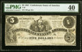 Confederate Notes:1861 Issues, T36 $5 1861 PF-7 Cr. 282 PMG Extremely Fine 40.. ...