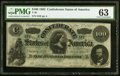T49 $100 1862 PF-1 Cr. 347 PMG Choice Uncirculated 63