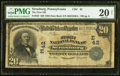 National Bank Notes:Pennsylvania, Strasburg, PA - $20 1902 Date Back Fr. 642 The First NB Ch. # (E)42 PMG Very Fine 20 Net.. ...