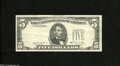 Error Notes:Third Printing on Reverse, Fr. 1976-E $5 1981 Federal Reserve Note. Very Fine....