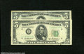 Error Notes:Shifted Third Printing, Fr. 1962-J $5 1950A Federal Reserve Note. Fine.... (2 notes)