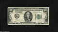 Error Notes:Skewed Reverse Printing, Fr. 2151-G $100 1928A Federal Reserve Note. Very Good....