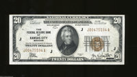 1929 $20 Federal Reserve Bank Note, Fr-1870-J, Choice CU. This is yet another very attractive and quite challenging note...