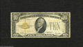 Small Size:Gold Certificates, Fr. 2400 $10 1928 Gold Silver Certificate. Very Good....