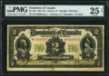 World Currency, Canada Dominion of Canada $2 2.1.1914 DC-22c PMG Very Fine 25 Net.. ...