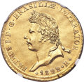 Brazil: Pedro I gold 6400 Reis 1822-R AU Details (Repaired) NGC