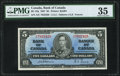 Canadian Currency, Canada Bank of Canada $5 2.1.1937 BC-23a PMG Ch...
