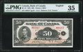 "World Currency, Canada Bank of Canada $50 1935 BC-13 ""English"" PMG Choice Very Fine 35.. ..."