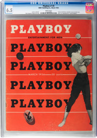 Playboy #4 (HMH Publishing, 1954) CGC FN+ 6.5 White pages