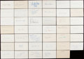 Autographs:Index Cards, Baseball Greats Signed Index Card & Cut Lot of 123....