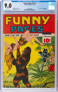 Funny Pages V3#9 (Comics Magazine Co./ Centaur Publications, 1939) CGC VF/NM 9.0 Off-white pages