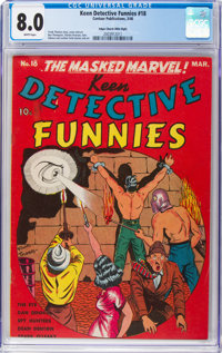 Keen Detective Funnies #18 Mile High Pedigree (Centaur, 1940) CGC VF 8.0 White pages