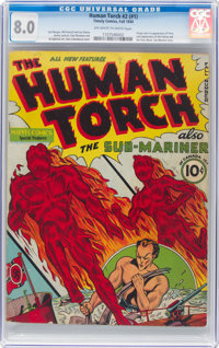 The Human Torch #2 (#1) (Timely, 1940) CGC VF 8.0 Off-white to white pages